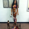 Brianna Winning First place in Novice, First in open and Overall in the Grand Rapids show