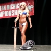Shebi winning overall bikini at the Western Michigan Championships